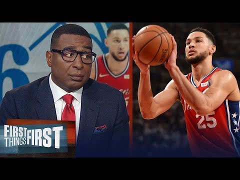 Cris Carter reacts to the Sixers giving Ben Simmons a max contact | NBA | FIRST THINGS FIRST
