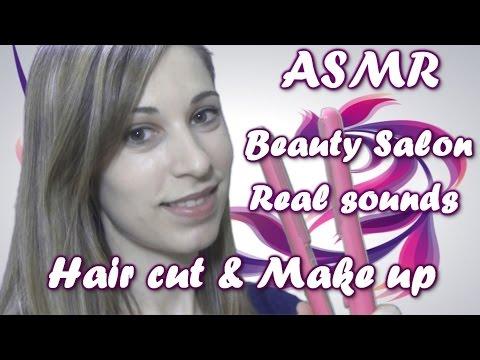 ASMR / Roleplay Beauty Salon / real sounds/  hair cut/make up/ español