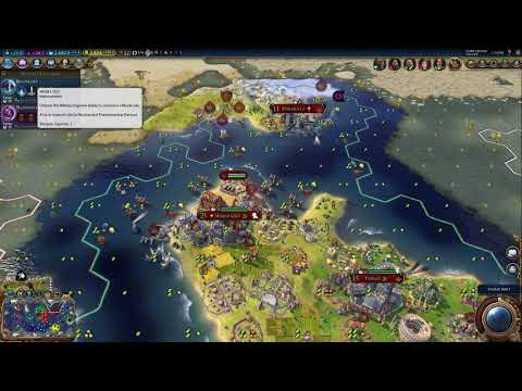 Sid Meier's Civilization VI Single Player Shuffle#3 Roll over Indonesia America's here. |