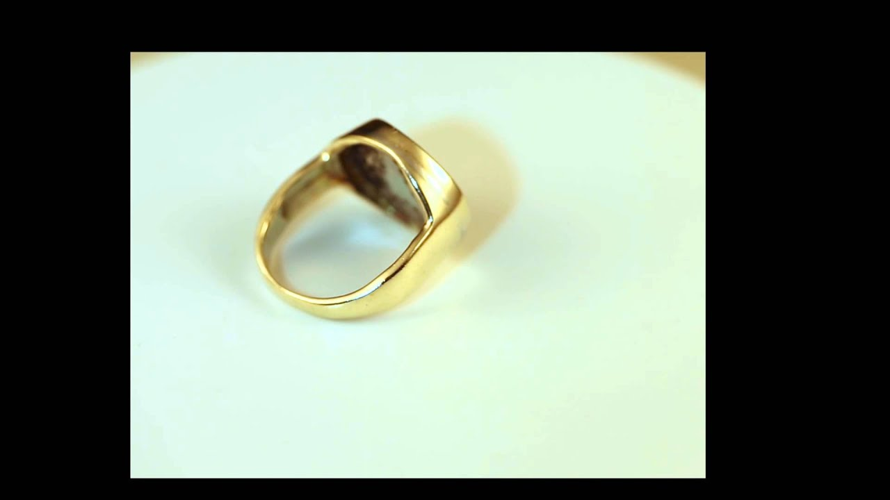 men 39 s 14k yellow gold mercedes diamonds ring sz 8 youtube. Black Bedroom Furniture Sets. Home Design Ideas