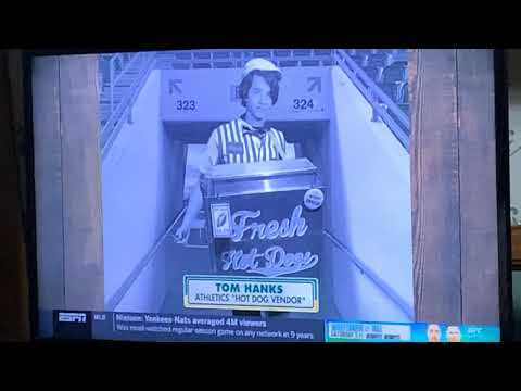 Tom Hanks Cardboard Cutout At LA Angels At Oakland Athletics 2020 Opening Day Game, Me Too!