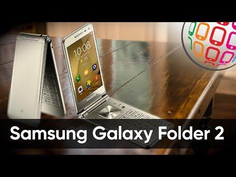 Galaxy Folder 2 - золотистая раскладушка на Андроиде от Samsung
