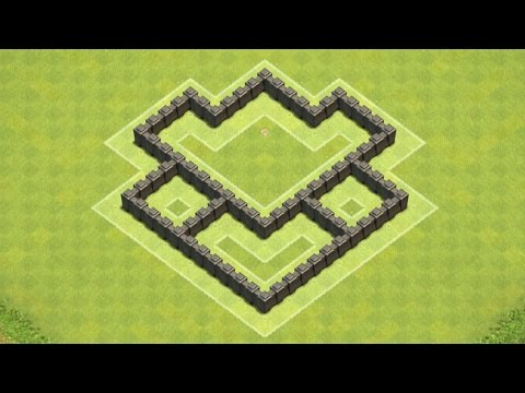 Clash of Clans Town Hall 4 Defense (CoC TH4) BEST Hybrid Base Layout Defense Strategy