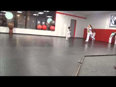 3 year old playing Capoeira