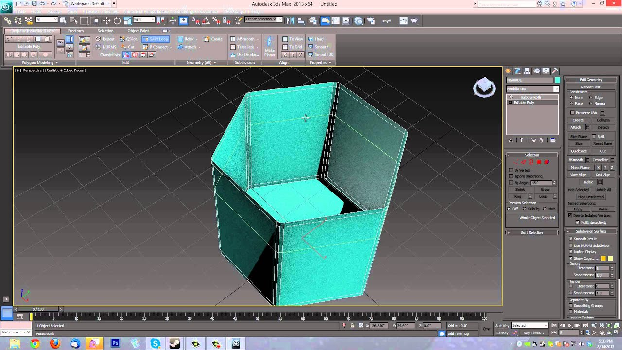 how to make screw in 3d max