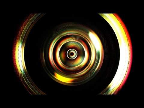 4K Digital Rainbow Eye Wireframe Style...