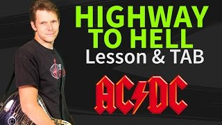 Guitar Lesson & TAB: Highway to Hell - ACDC - How to play intro verse and chorus