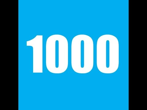 Numbers counting from 1000 to 10000