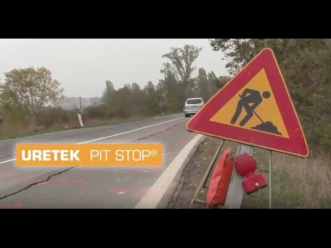 Vielbefahrene Straße mit URETEK-Kunstharz stabilisiert
