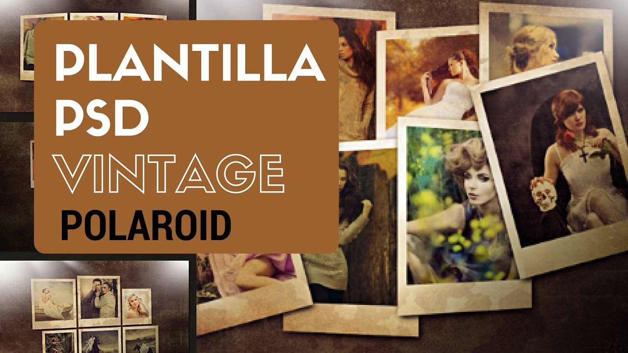 Tutorial photoshop: Collage Polaroid Vintage - YouTube