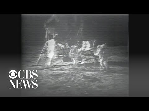 Apollo 11 Astronauts Plant Flag On The Moon On July 20, 1969