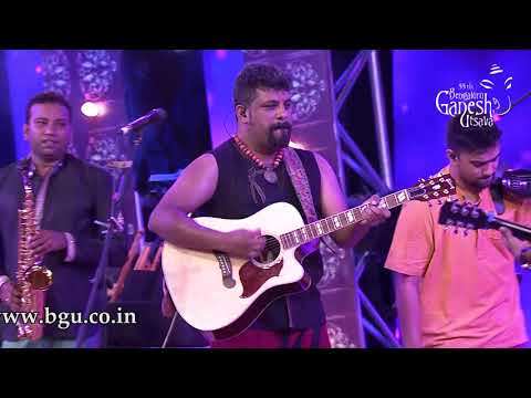 """Lokada Kalaji"" by Raghu Dixit at 55th Bengaluru Ganesh Utsava"