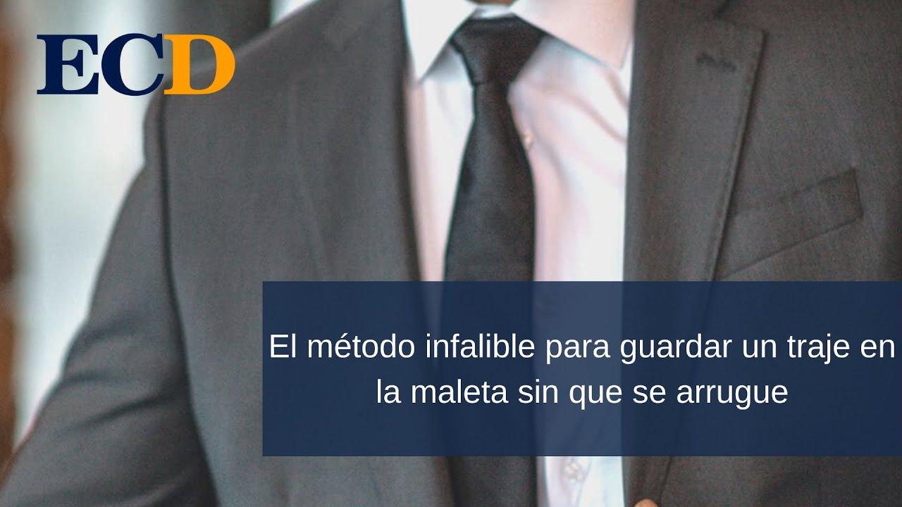 8d852b4e5ce65 El método infalible para guardar un traje en la maleta sin que se arrugue