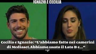 Cecilia e Ignazio:L'abbiamo fatto nei camerini di Mediaset - Abbiamo usato il Lato B e... - Video