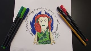 How to draw Poison Ivy : Lego Batman - Lego Speed Draw #2