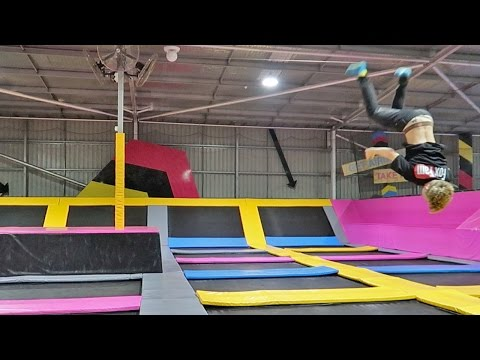SNEAKING INTO A CLOSED TRAMPOLINE PARK!