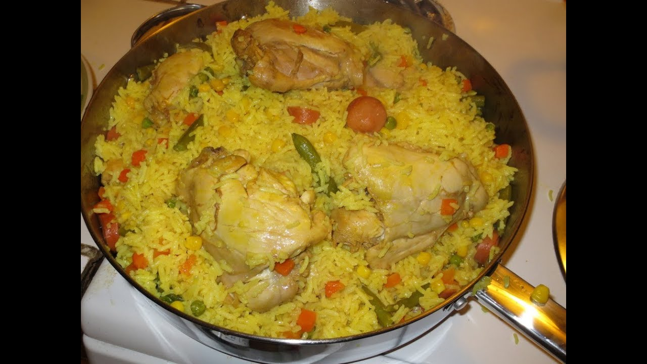Arroz con pollo version 2 viyoutube - Arroz en blanco con pollo ...