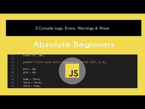 JavaScript : ★ 2.Console Logs, Errors, Warnings & More  | Tutorial In Hindi #2 thumbnail