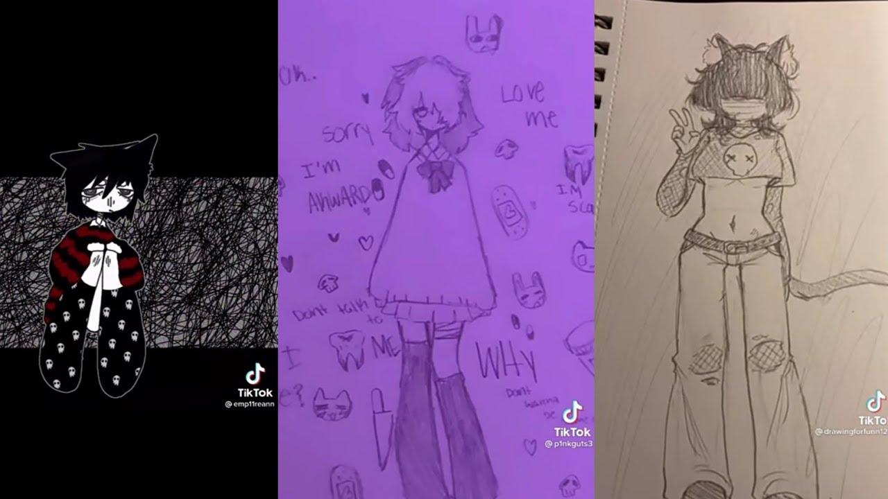 Alt Tiktok Drawings Part 2 Alt Dibujos De Tiktok Parte 2 Youtube