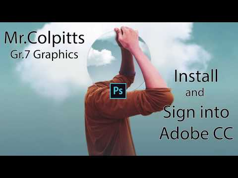 Install Sign In Adobe CC Desktop App