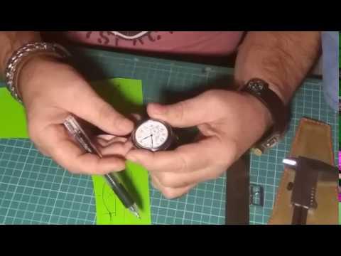 Часы военные К-43,ремешок из натуральной кожи своими руками.
