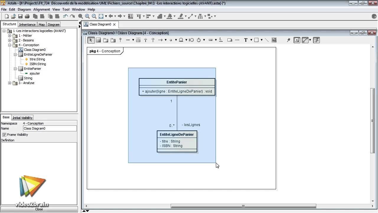 Tutoriel Modélisation Uml Travailler Avec Le Diagramme De Classe De Conception Video2braincom