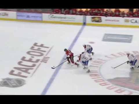 Jeff Petry Great Defensive Play to Stop Lazar on a Breakaway (10/11/15)