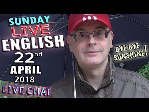 Learning English Live - 22nd April 2018 - Prizes - Ladybird Sex - Grammar - Listening - Chat