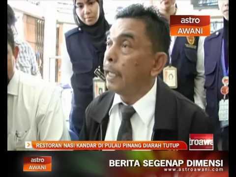 Restoran nasi kandar di Pulau Pinang diarah tutup