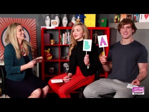 "Justine Magazine: Logan Paul and Peyton List Play Our ""A"" or ""B"" Game!"