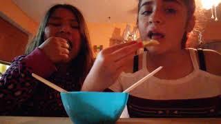 Salsa eating challenge gone wrong