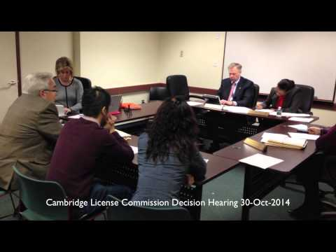 The Dumpling House - Cambridge License Commission Decision Hearing October 30, 2014 at 11:30am