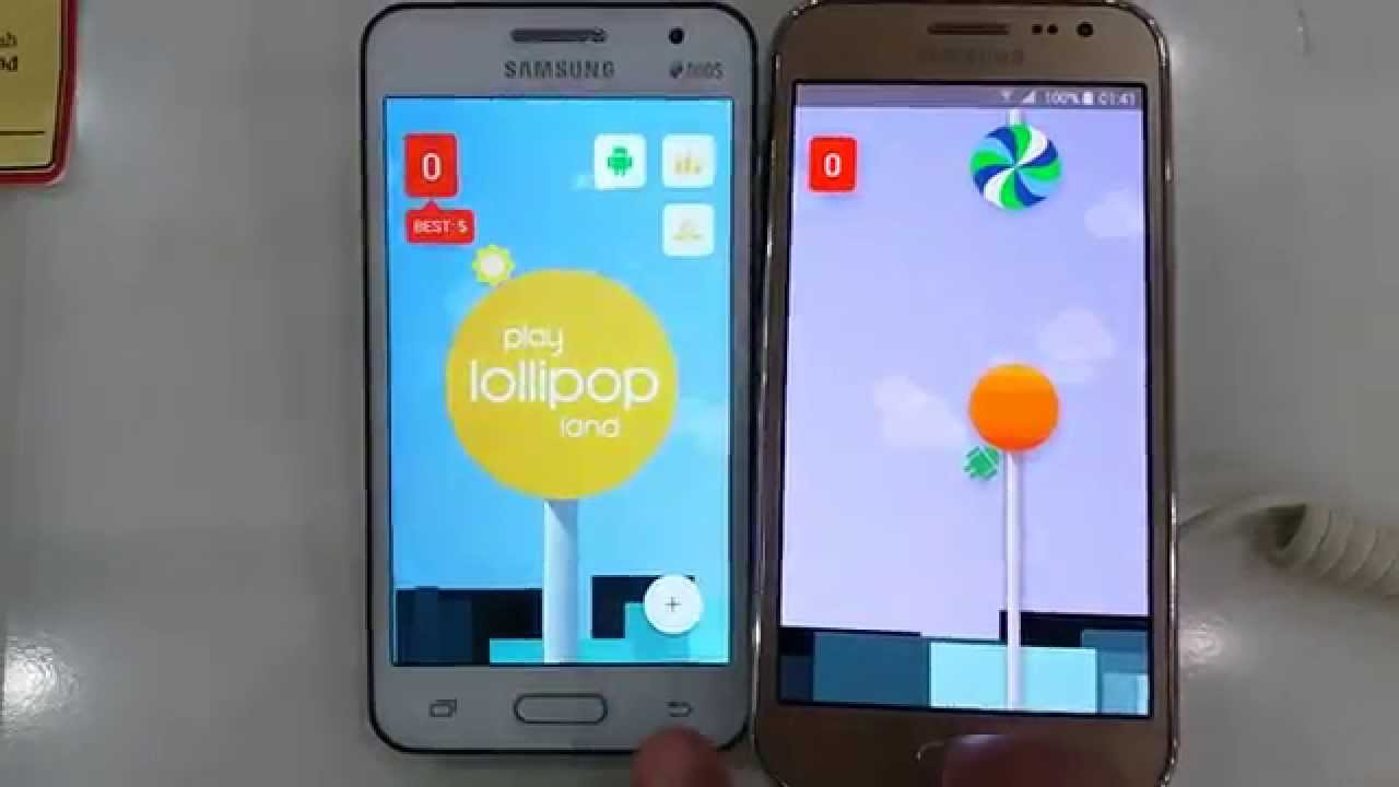 Galaxy Core 2 vs Galaxy J2 Lollipop Rom