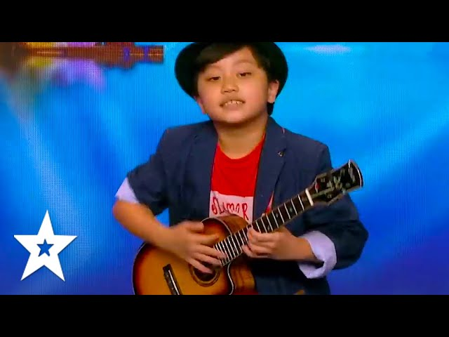 10 YEAR OLD ROCKS THE STAGE! UKULELE Rock Star Feng E All Auditions! On Asia's Got Talent