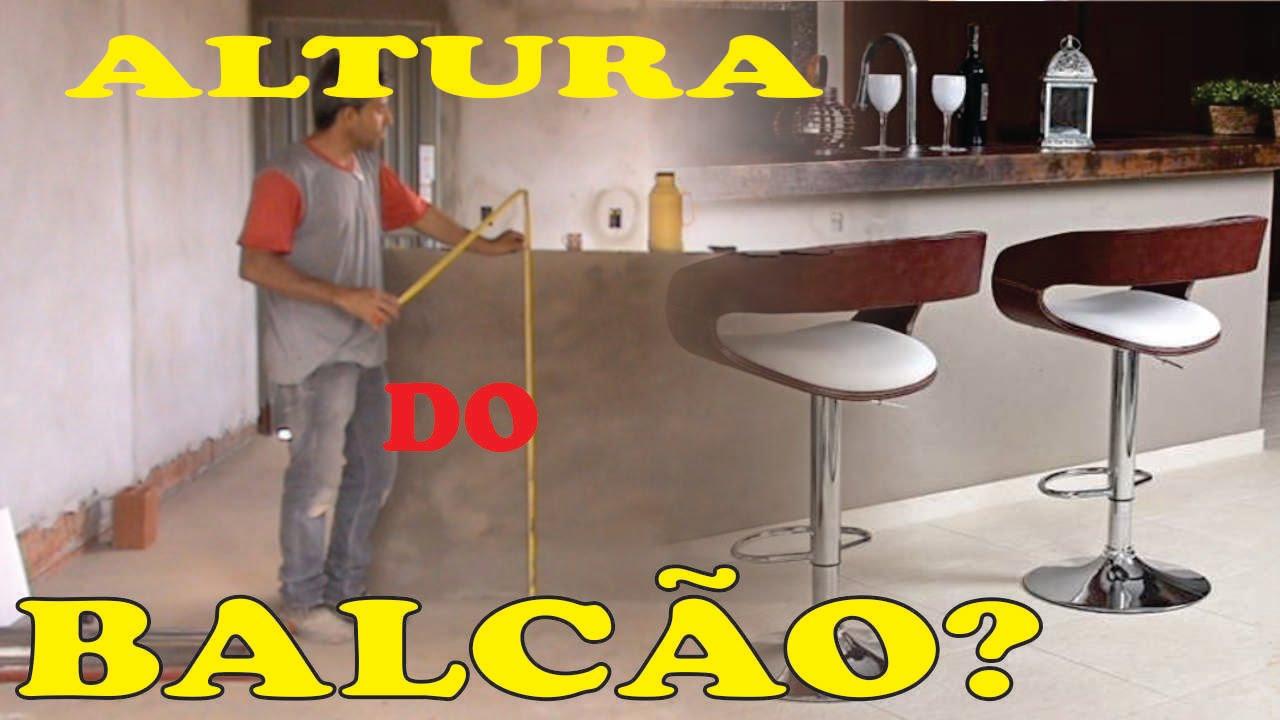 APRENDA A ALTURA IDEAL DO BALCÃO QUE DIVIDE COZINHA E SALA  YouTube # Altura Minima De Bancada De Cozinha