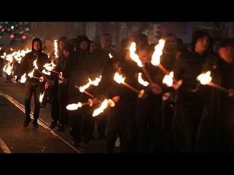Marcha da extrema direita búlgara em Sofia