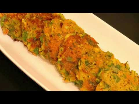 Vegan Zucchini Carrot Fritters | How to make easy zucchini fritters