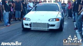 Mitsubishi Evo with bolt ons vs Turbo K20 Civic Hatch