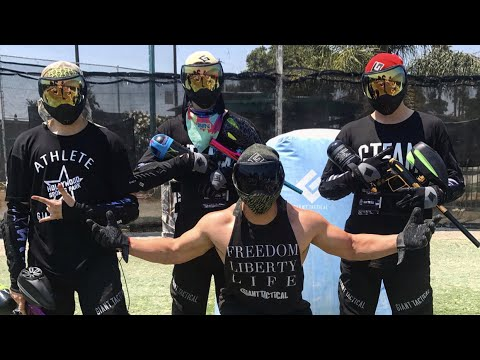 Empire Paintball Gear unboxing with Christian Delgrosso, Anthony Trujillo, Chance Sutton at Hollywo