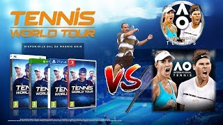 Tennis World Tour vs AO International Tennis