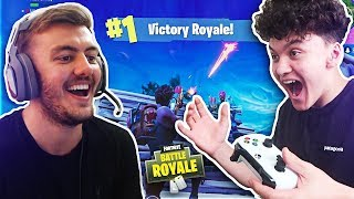 Playing With THE BEST 15 YEAR OLD Fortnite Battle Royale Player #2 (FaZe Kay's Little Brother)