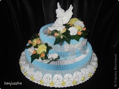How to make 3D Origami Birthday Cake - Hướng dẫn xếp bánh ... - photo#20