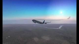 FS2004 AZERBAIJAN AIRLINES A340-300,Baku-Frankfurt