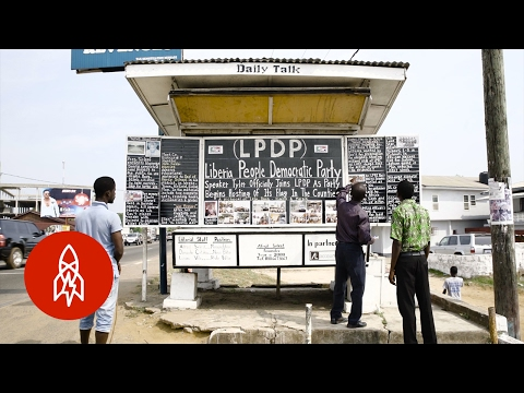 Liberia's Chalk and Easel Printing Press