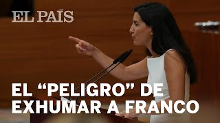 Rocío MONASTERIO (VOX) habla sobre la EXHUMACIÓN de FRANCO