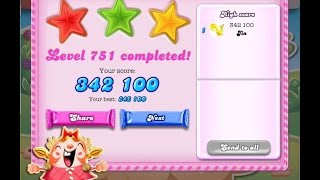Candy Crush Saga Level 751   ★★★   NO BOOSTER