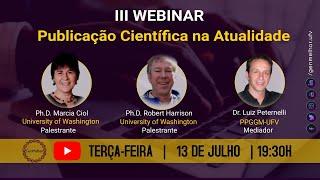 III Webinar: Publicação científica na atualidade