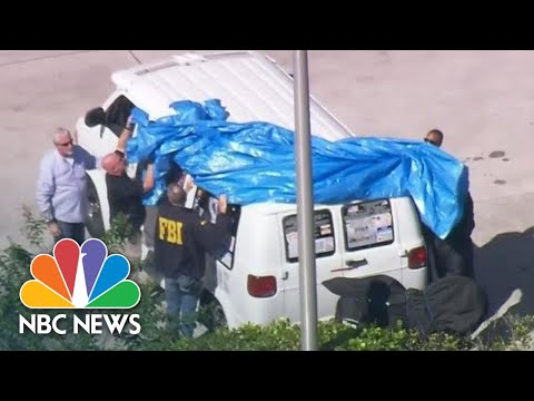 Watch Bomb Suspect's Van, Covered In Pro-Trump Stickers, Towed Away | NBC News