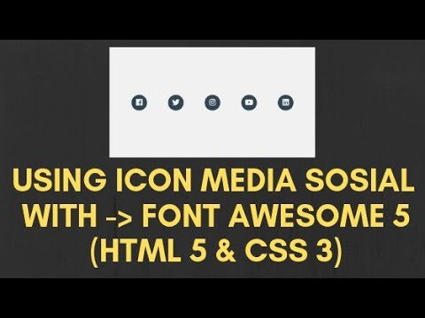 Use Font Awesome 5 Icon Social Media HTML & CSS