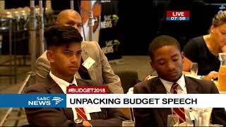 Post Budget 2018 Breakfast with Finance Minister - SARS